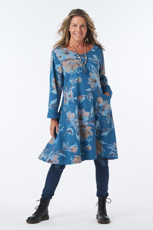 PETROL FLOWER DRESS